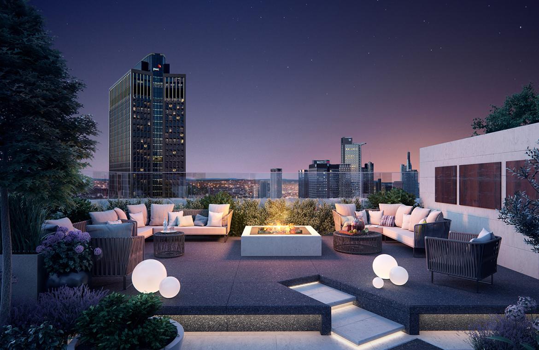 frankfurt grand tower wohnturm skyline plaza 172m. Black Bedroom Furniture Sets. Home Design Ideas