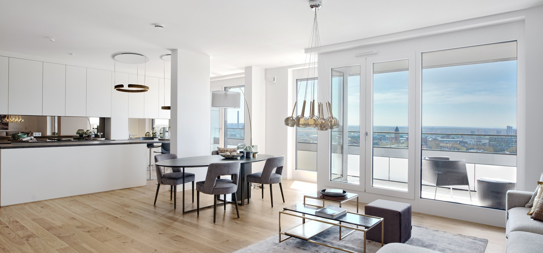 PRAEDIUM Eigentumswohnung Mit Penthouse Blick   Musterwohnung