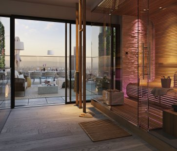 Eden Tower Penthouse Apartment Sauna